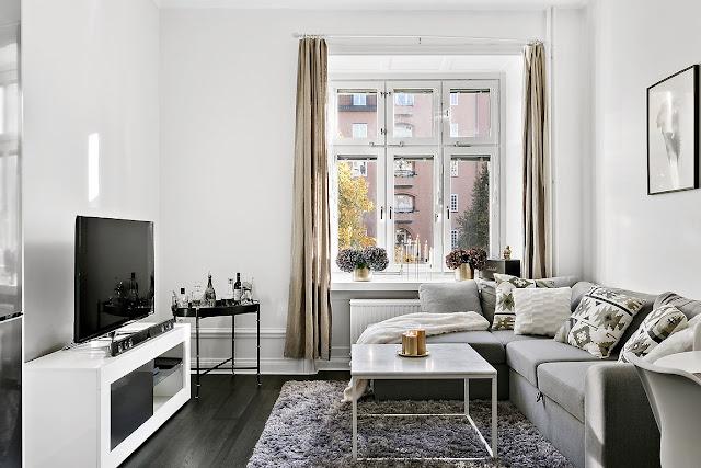 Cute light scandinavian apartment