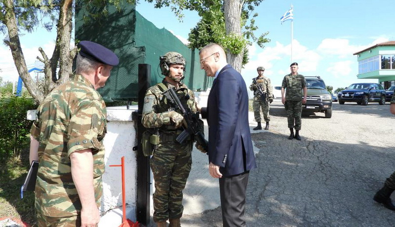 Επίσκεψη Υφυπουργού Εθνικής Άμυνας Αλκιβιάδη Στεφανή σε Μονάδες και Φυλάκια του Έβρου