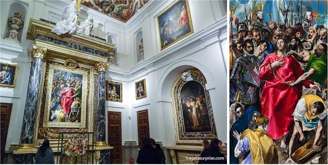 """Tela de El Greco """"O Espólio"""", exposta na Sacristia da Catedral de Toledo"""