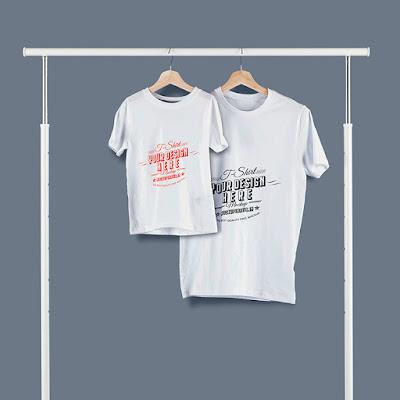 Mockup Kaos Couple Ayah dan Anak