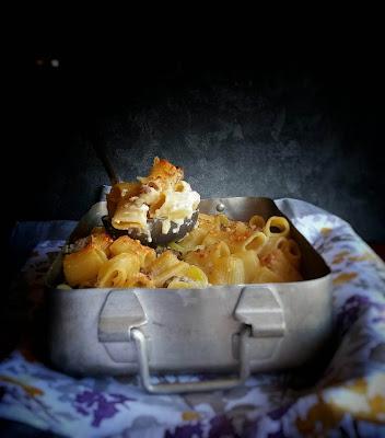 pasta al forno con patate e salsiccia
