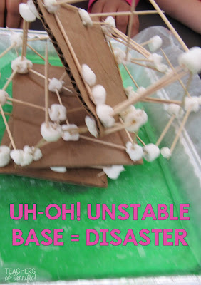 STEM Challenge: Buildings that are not built with stable connections may topple over in this challenge!