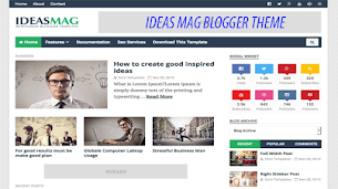 Ideas Mag Responsive Seo Friendly Blogger Theme - Responsive Blogger Template