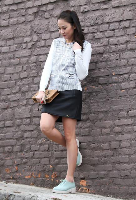 faldas cortas con zapatillas