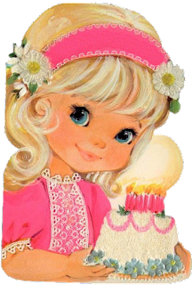 FREEBIE FRIDAY! Little Girl Image. Vintage Greeting Card. Granddaughter too!