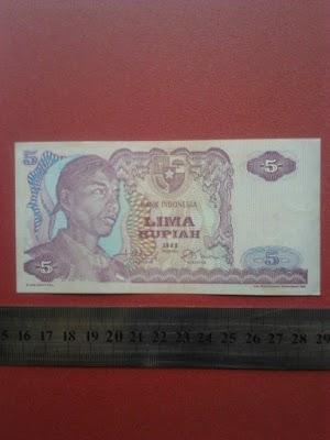 5 rupiah tahun 1968