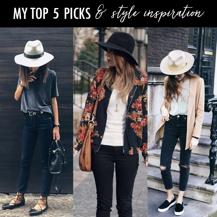 fedora fall casual outfit