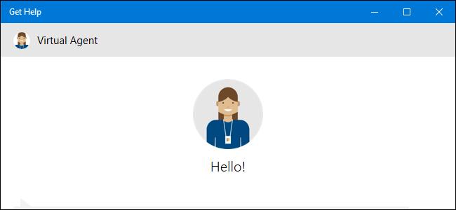 احصل على تطبيق التعليمات الذي يعرض Virtual Agent على نظام التشغيل Windows 10