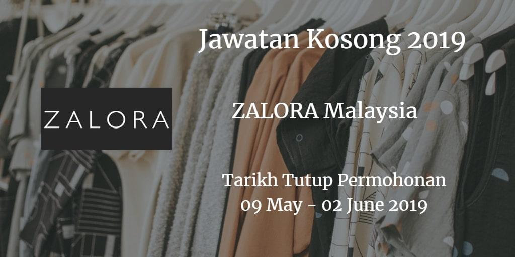 Jawatan Kosong  ZALORA Malaysia 09 May  - 02 June 2019
