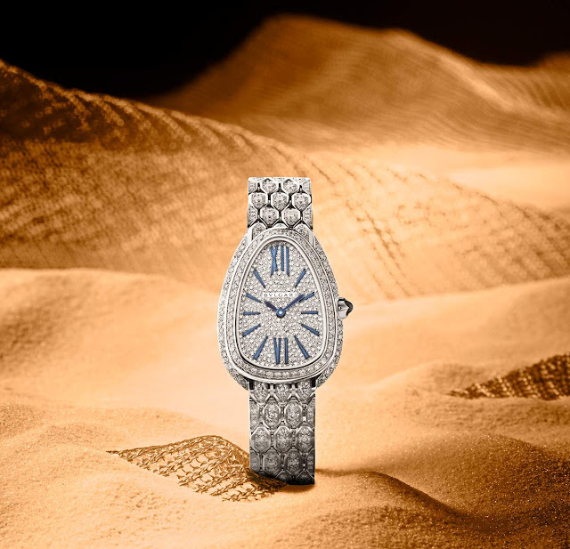 Bulgari Serpenti Seduttori in white gold and diamond pave