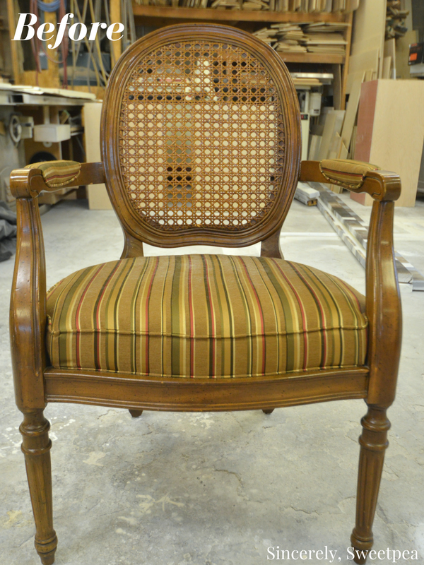 Reupholstering a cane chair