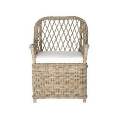 Safavieh Maluku wicker arm chair at Decor Market - found on Hello Lovely Studio