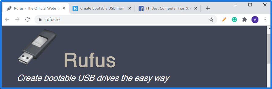 Create bootable USB drives the easy way