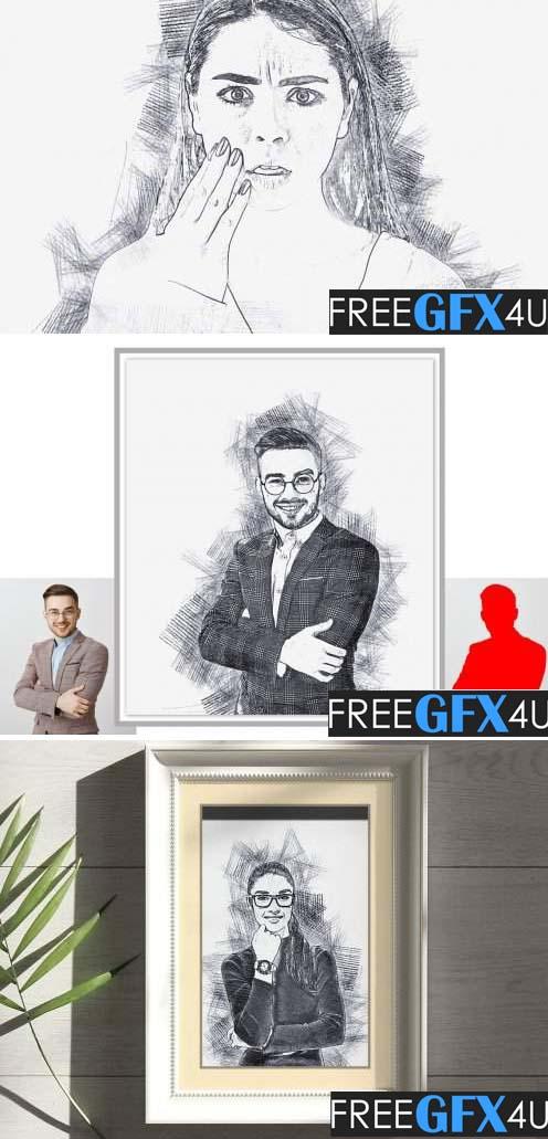 Line Art Sketch Photoshop Action