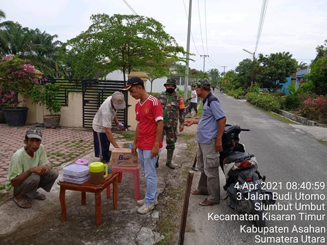 Gotong Royong Diwilayah Binaan DIlaksanakan Personel Jajaran Kodim 0208/Asahan Bersama Warga Binaan