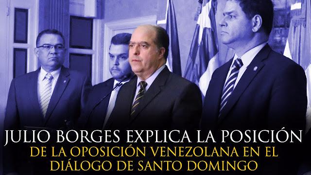 VIDEO: Julio Borges explica la posición de la Oposición Venezolana en el Diálogo de Santo Domingo