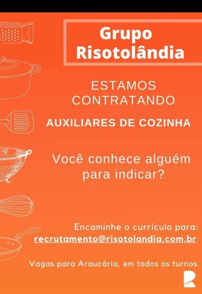 Auxiliares de Cozinha, Araucária, PR