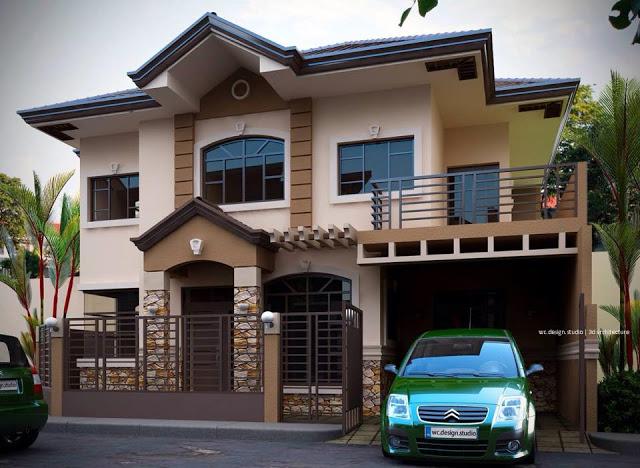 2 diseños clásicos de una casa de dos pisos