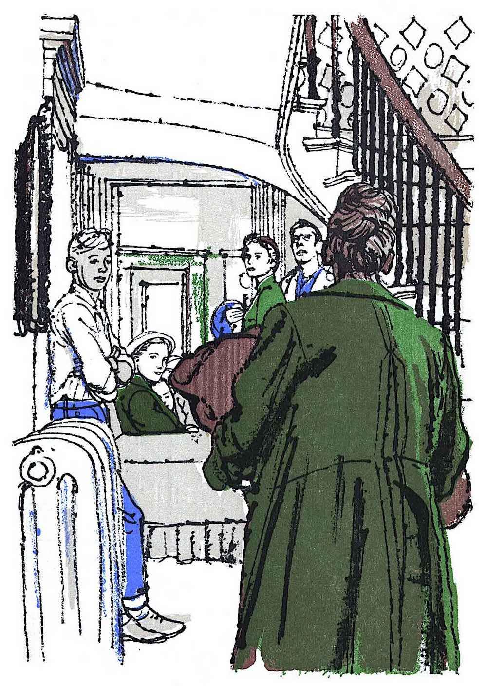 an Austin Briggs illustration, Reader's Digest