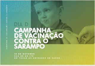 Sábado é o Dia D da Campanha contra o Sarampo em Cajati