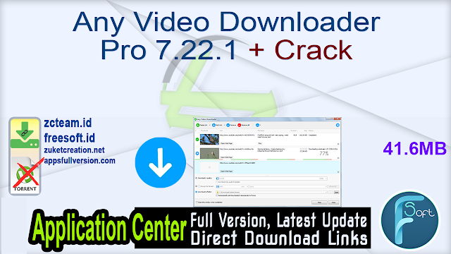 Any Video Downloader Pro 7.22.1 + Crack_ ZcTeam.id