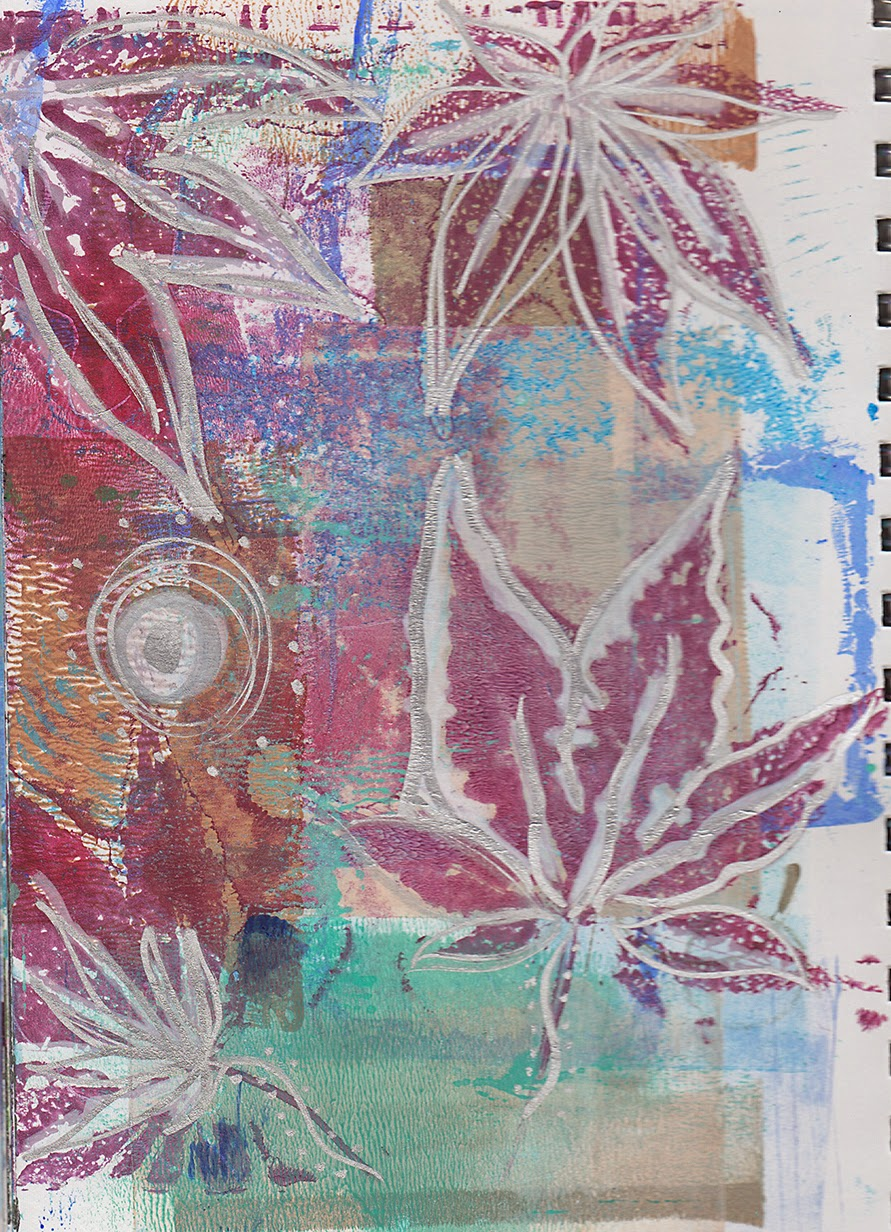 gelli printed art journal