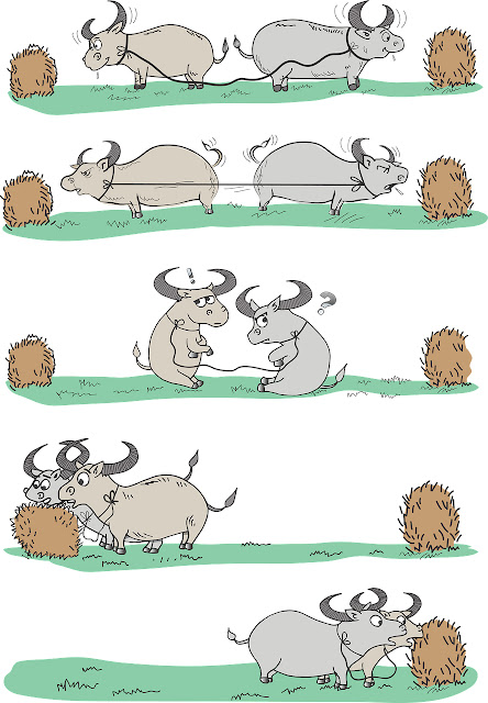 Coopetition: das Nebeneinander von Zusammenarbeit und Wettbewerb.