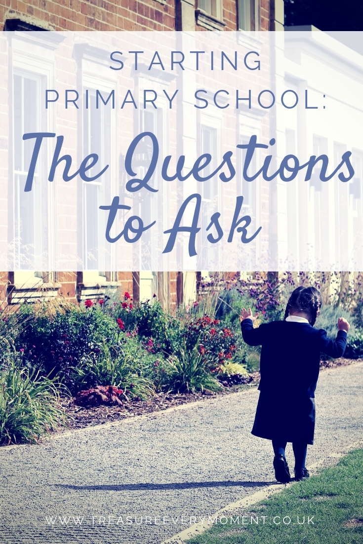 STARTING PRIMARY SCHOOL: The Questions to Ask