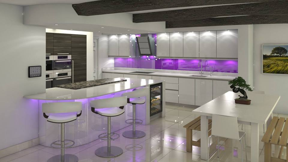 designs in contemporary style 2016 divine purple kitchen designs