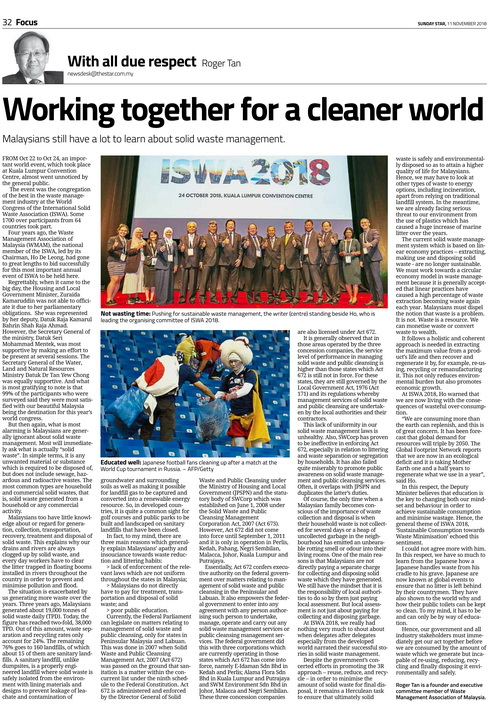 Voice of Reason:::Roger Tan: Working together for a cleaner