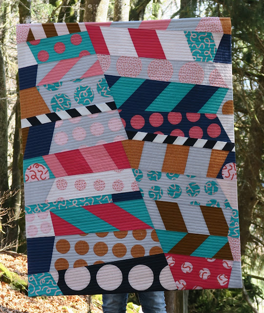 Luna Lovequilts - Gelateria quilt - Inspired by a mural in Nashville