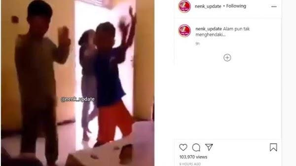 Viral Petir Menyambar saat Bocah-bocah Ini Joget TikTok, Publik Khawatir