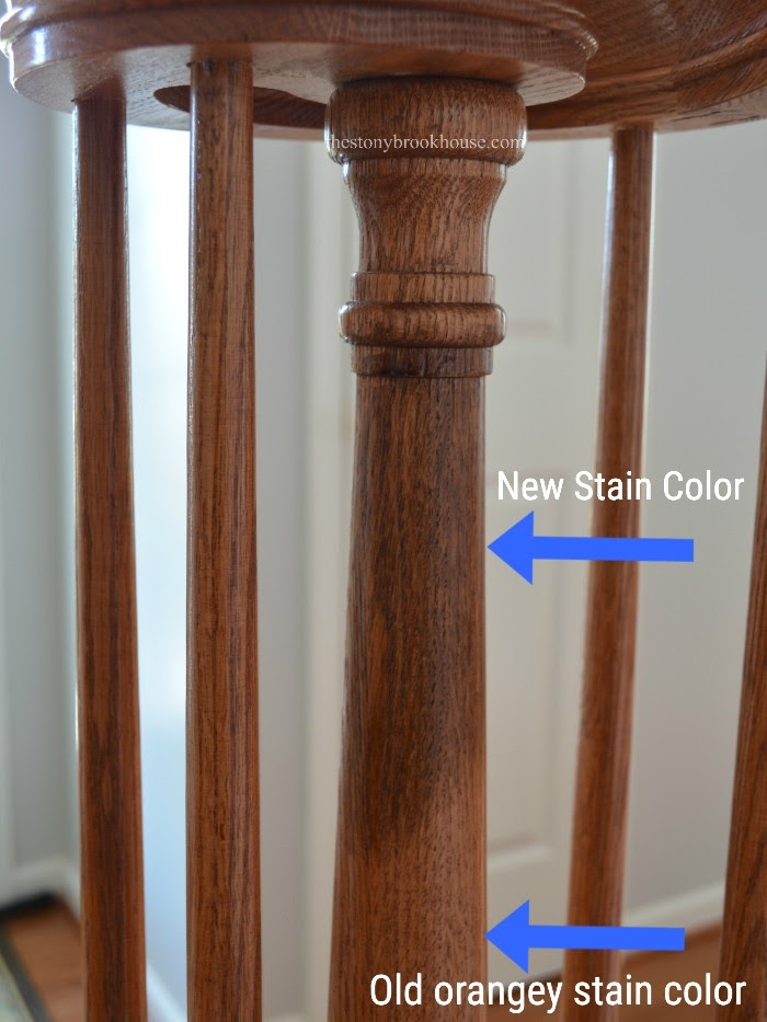 New Stain color on spindle