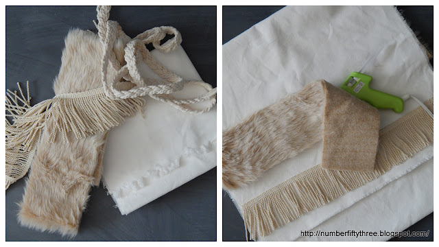 Use different trims to personalize a table runner
