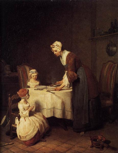 Jean Baptiste Siméon Chardin Молитва перед едой
