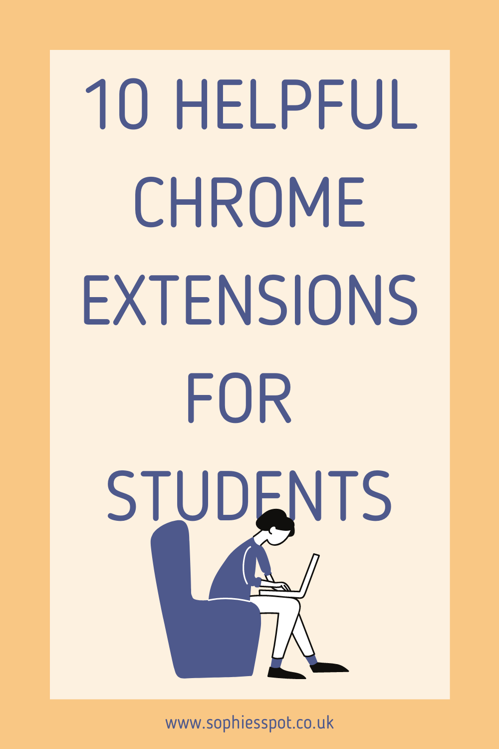"graphic saying ""10 helpful chrome extensions for students"""