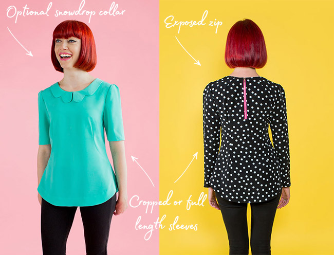 Orla top by Tilly and the Buttons
