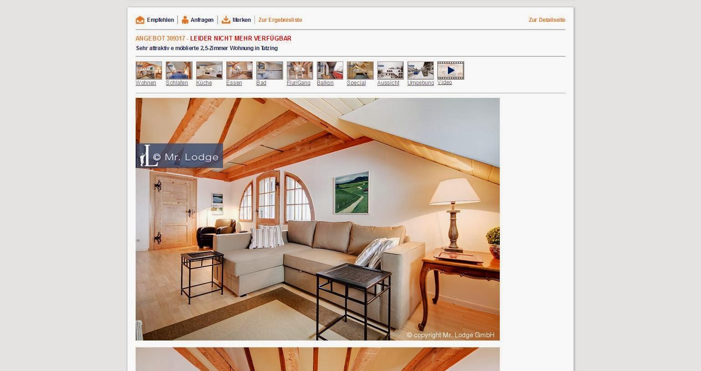 sehr attraktive m blierte 2 5 zimmer wohnung in m nchen 81541. Black Bedroom Furniture Sets. Home Design Ideas