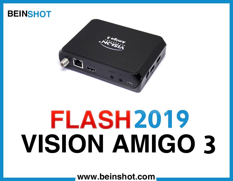 التحديث  الرسمي لجهاز  VISION AMIGO 3 HD 2019