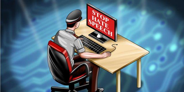 Polri Patroli Siber Info Demo Besar UU Ciptaker 6-8 Oktober