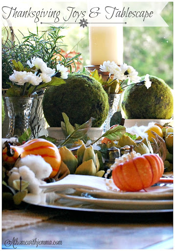 Outdoor-table -setting-decorating-gourds-cotton-burlap-vignette