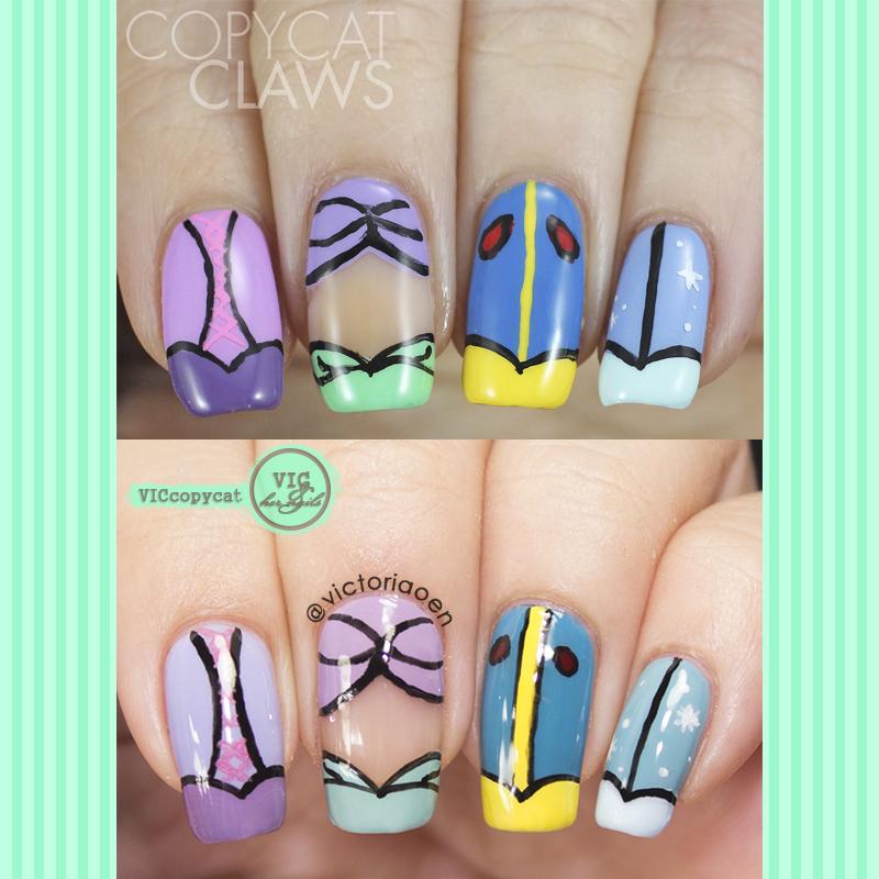 Dress Disney Princess Nails: Vic And Her Nails: VicCopycat