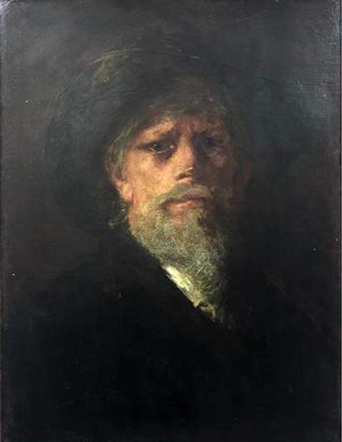 Petrus van der Velden, Self Portrait, Portraits of Painters, Fine arts, Portraits of painters blog, Paintings of Petrus van der Velden , Painter Petrus van der Velden
