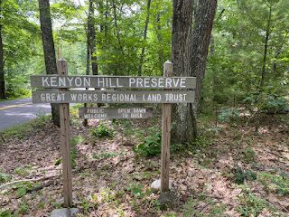 kenyon hill preserve sign in South Berwick Maine