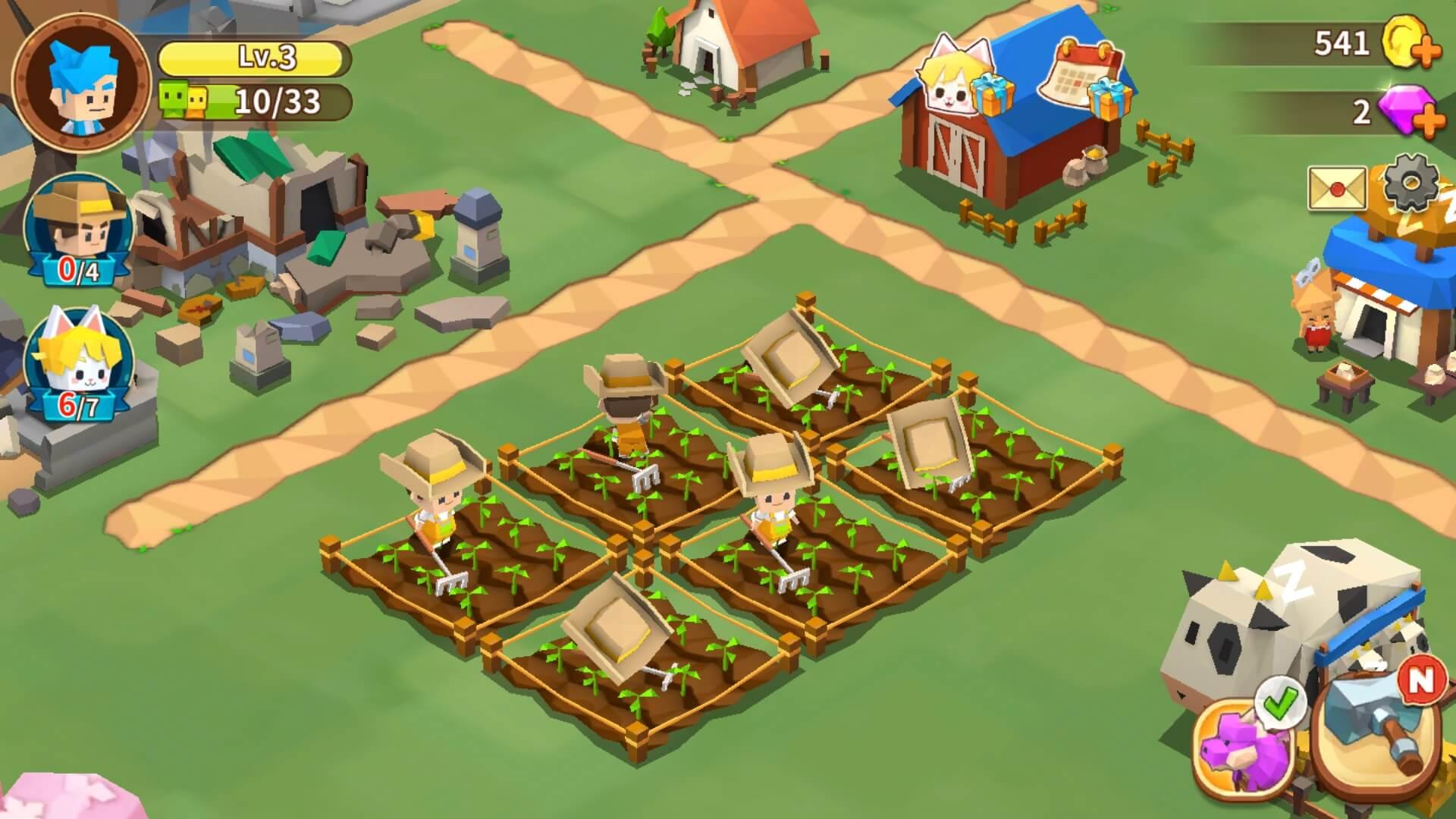 Berkebun Game Fantasy Town