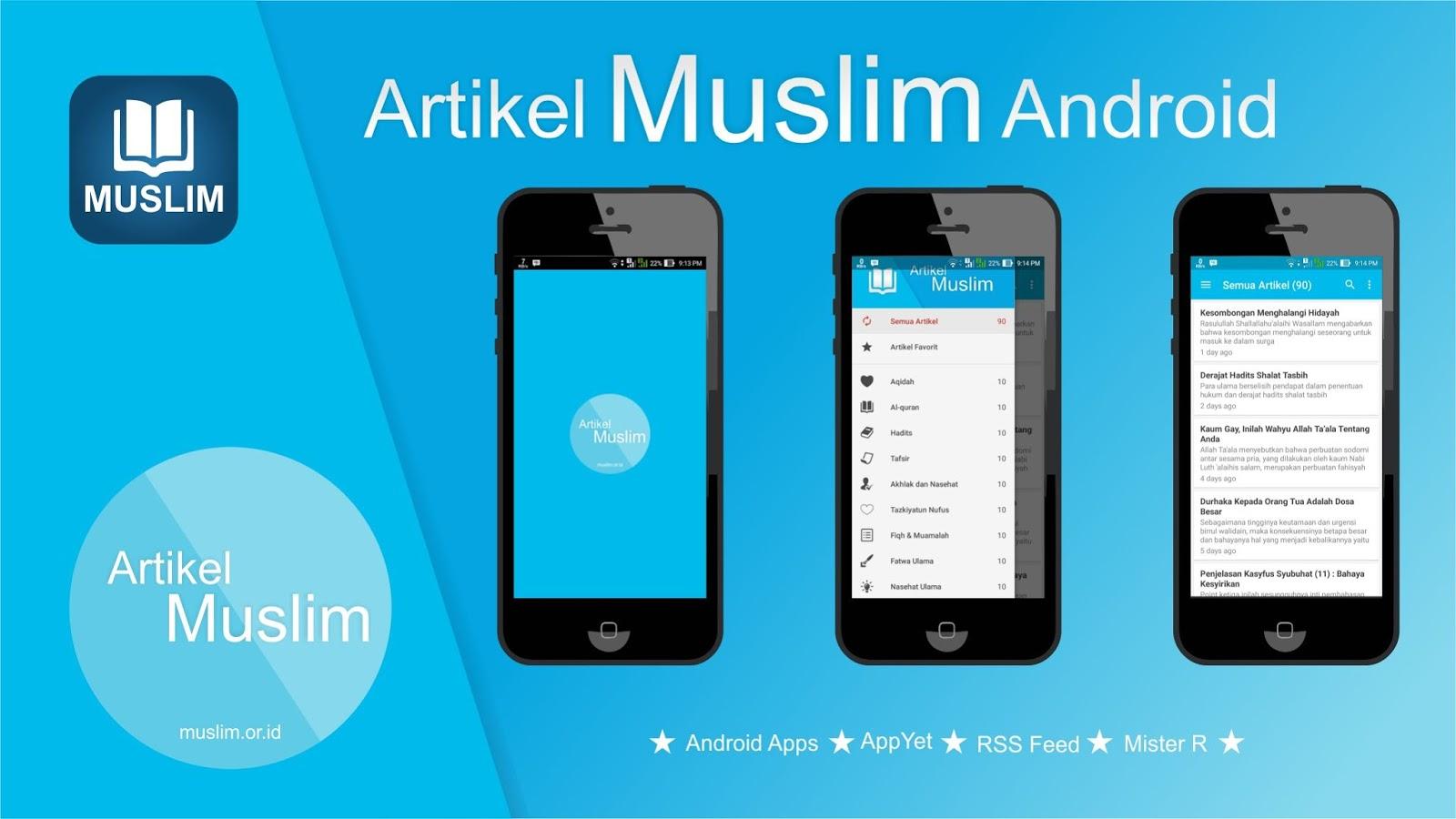 Aplikasi Andorid Muslim.or.id menggunakan AppYet
