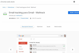 """Mailtrack para Google Chrome es una extensión muy utilizada por la gente para rastrear si efectivamente ya leíste los correos que te mandaron, así como la hora a la que los abriste. Si no quieres que te rastreen, entonces instala la extensión que se llama """"Email Privacy Protector""""."""