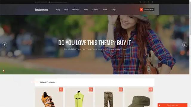 قالب متجر الكتروني بلوجر | قالب beta commerce مجاني
