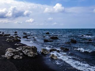 Tropical Rocky Beach Panorama At Umeanyar Beach, Buleleng Regency, North Bali, Indonesia