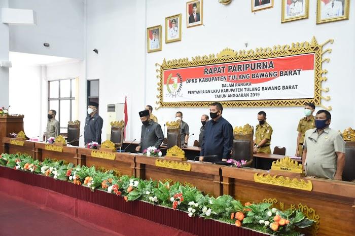 Tahun Anggaran 2019 DPRD TUBABA Melakukan Rapat Paripurna.